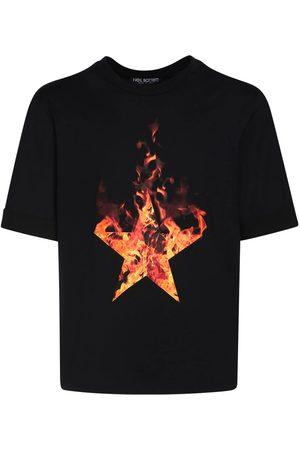 Neil Barrett Fired Star Print Cotton Jersey T-shirt