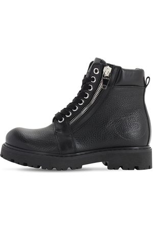 Balmain Leather Zip-up Boots