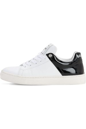 Balmain Logo Lace-up Leather Sneakers