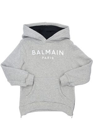Balmain Logo Cotton Blend Sweatshirt Hoodie