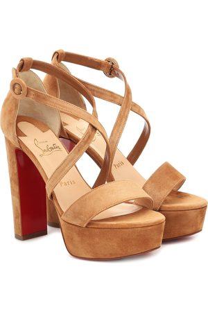Christian Louboutin Loubi Bee 130 suede platform sandals