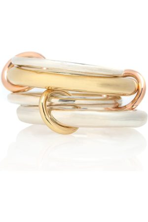 SPINELLI KILCOLLIN Cici 18-karat , rose and sterling silver linked rings