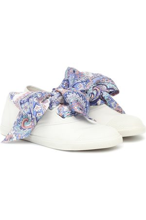 ZIMMERMANN Exclusive to Mytheresa – Scarf-tie canvas sneakers