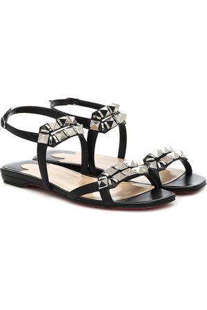 Christian Louboutin Galerietta embellished leather sandals
