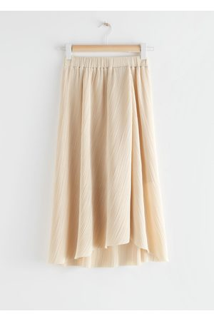 & OTHER STORIES Diagonal Pleats Midi Skirt