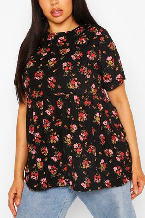 Boohoo Womens Plus Ditsy Floral Smock Top - - 12