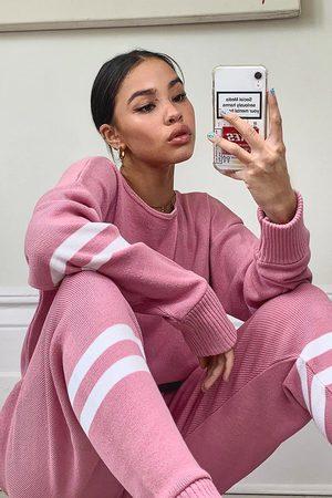 Boohoo Womens Stripe Knitted Lounge Set - - S