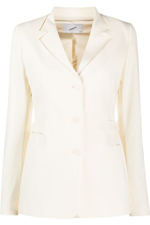 COPERNI Single-breasted belted blazer - Neutrals