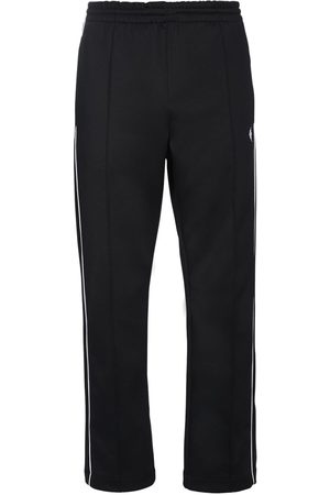 MARCELO BURLON Cross Loose Tech Track Pants W/ Piping