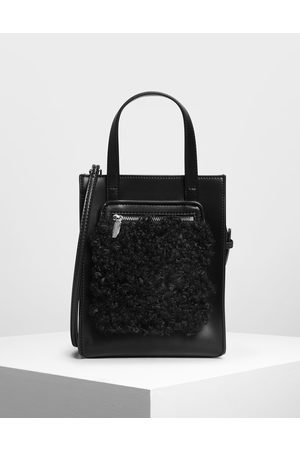 CHARLES & KEITH Women Tote Bags - Zipper Compartment Tote Bag