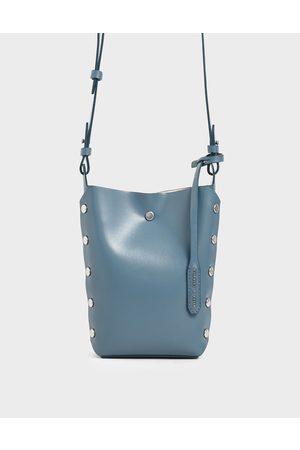 CHARLES & KEITH Women Shoulder Bags - Mini Reversible Studded Crossbody Bag