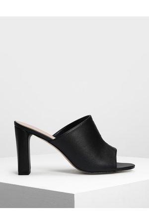 CHARLES & KEITH Block Heel Slide Sandals