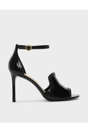 CHARLES & KEITH Brogue Detail Heeled Sandals
