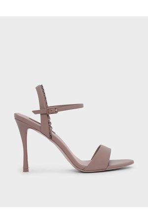 CHARLES & KEITH Scallop Edge Detail Heeled Sandals