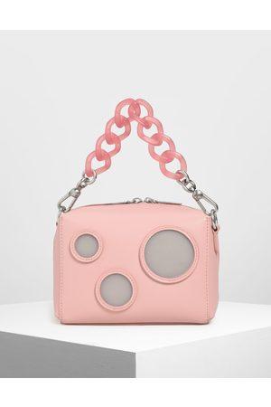 CHARLES & KEITH Women Shoulder Bags - Bubble Detail Crossbody Bag