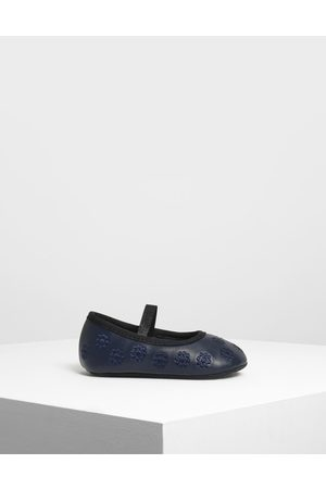 CHARLES & KEITH Kids Floral Embroidery Mary Janes