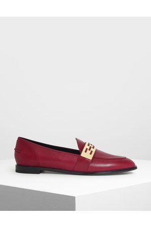 CHARLES & KEITH Loafers - Metallic Accent Loafers