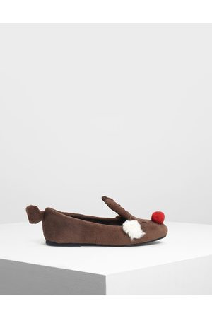 CHARLES & KEITH Girls Ballerinas - Kids Reindeer Ballerinas