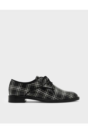 CHARLES & KEITH Leather Derby Shoes