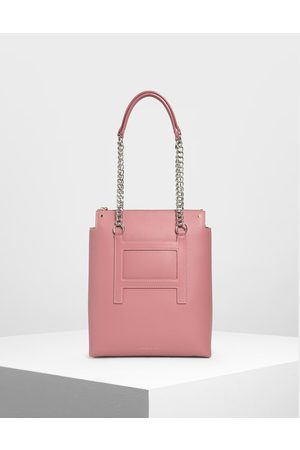 CHARLES & KEITH Long Chain Tote Bag