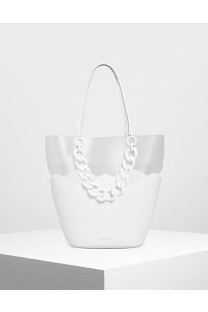 CHARLES & KEITH Women Tote Bags - Chunky Chain Tote Bag