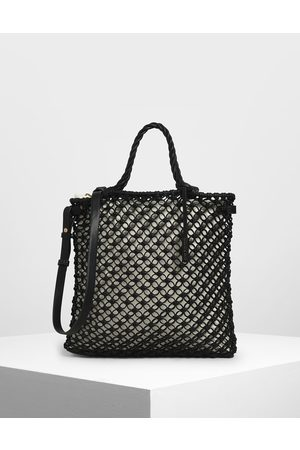 CHARLES & KEITH Women Tote Bags - Knitted Tote Bag
