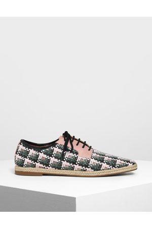 CHARLES & KEITH Raffia Derby Shoes