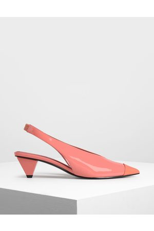 CHARLES & KEITH Cone Heel Slingback Pumps
