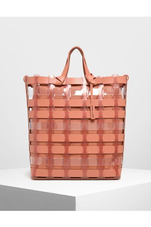 CHARLES & KEITH See-Through Woven Tote Bag