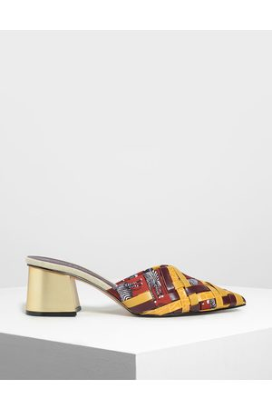 CHARLES & KEITH Mules - Woven Pointed Mules