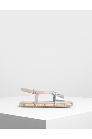 CHARLES & KEITH Girls' Seashell Espadrille Sandals