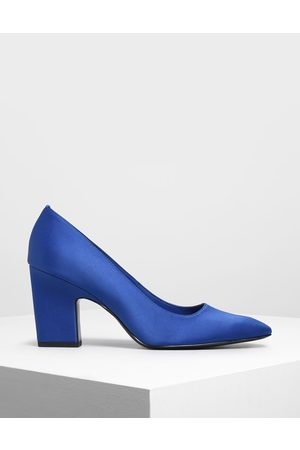 CHARLES & KEITH Satin Blade Heel Pumps