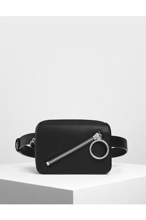 CHARLES & KEITH Women Bags - Ring Zip Pocket Two-Way Belt Bag