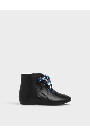 CHARLES & KEITH Girls Ankle Boots - Girls' Floral Print Lace-Up Ankle Boots
