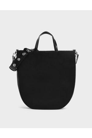 CHARLES & KEITH Textured U-Shaped Tote Bag