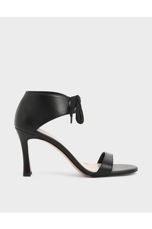 CHARLES & KEITH Women Sandals - Bow Ankle Strap Sculptural Heel Sandals