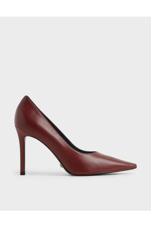 CHARLES & KEITH Women Pumps - Leather Pointed Toe Stiletto Pumps