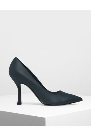 CHARLES & KEITH Women Pumps - Curved Stiletto Heel Pumps