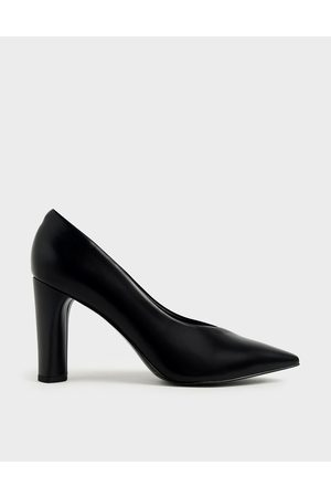 CHARLES & KEITH Textured Cylindrical Heel Pumps