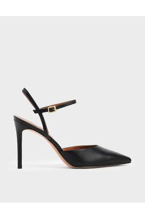 CHARLES & KEITH Pointed Toe Ankle Strap Pumps
