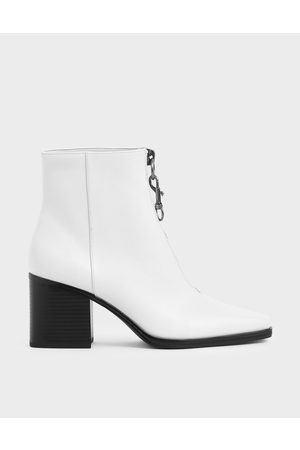 CHARLES & KEITH Women Ankle Boots - Front Zip Ankle Boots