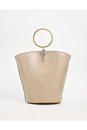 CHARLES & KEITH Bracelets - Croc-Effect Large Bracelet Bucket Bag