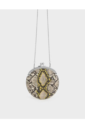 CHARLES & KEITH Wallets - Snake Print Coin Pouch