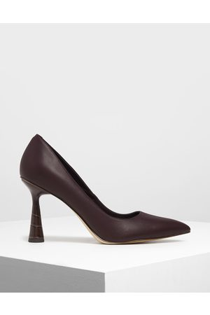 CHARLES & KEITH Women Pumps - Sculptural Heel Pointed Toe Pumps