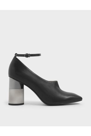 CHARLES & KEITH Women Pumps - Ankle Strap Concrete Heel Pump