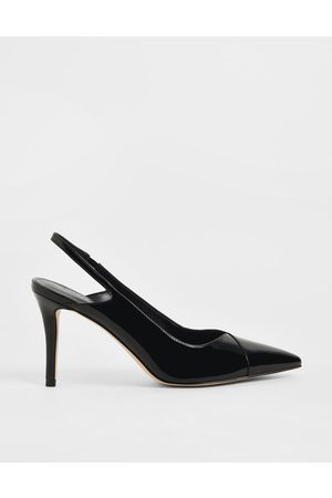 CHARLES & KEITH Women Pumps - Patent Slingback Stiletto Pumps