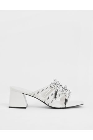 CHARLES & KEITH Nylon Lace Strap Slide Sandals