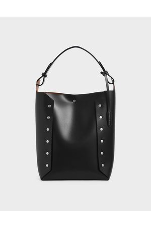 CHARLES & KEITH Large Reversible Studded Tote Bag