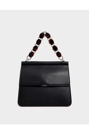 CHARLES & KEITH Acrylic Tortoiseshell Top Handle Bag