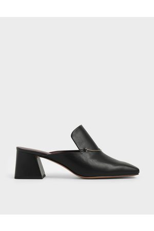 CHARLES & KEITH Chain Link Loafer Mules